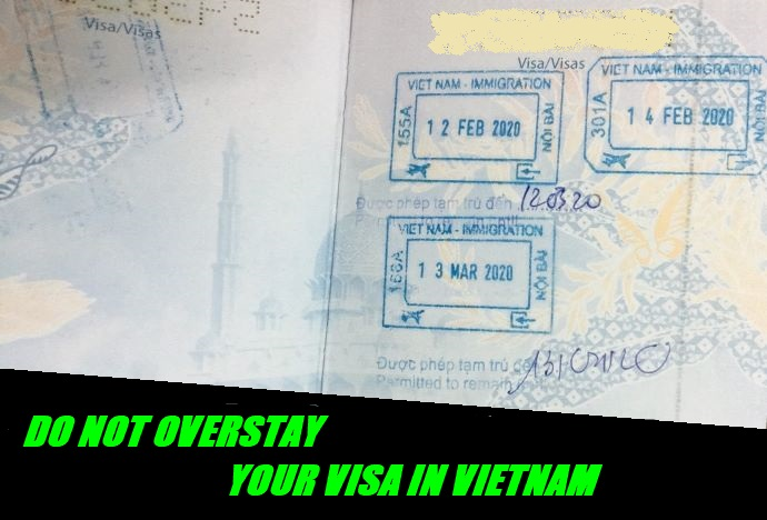 What happens if I overstay my visa in Vietnam?